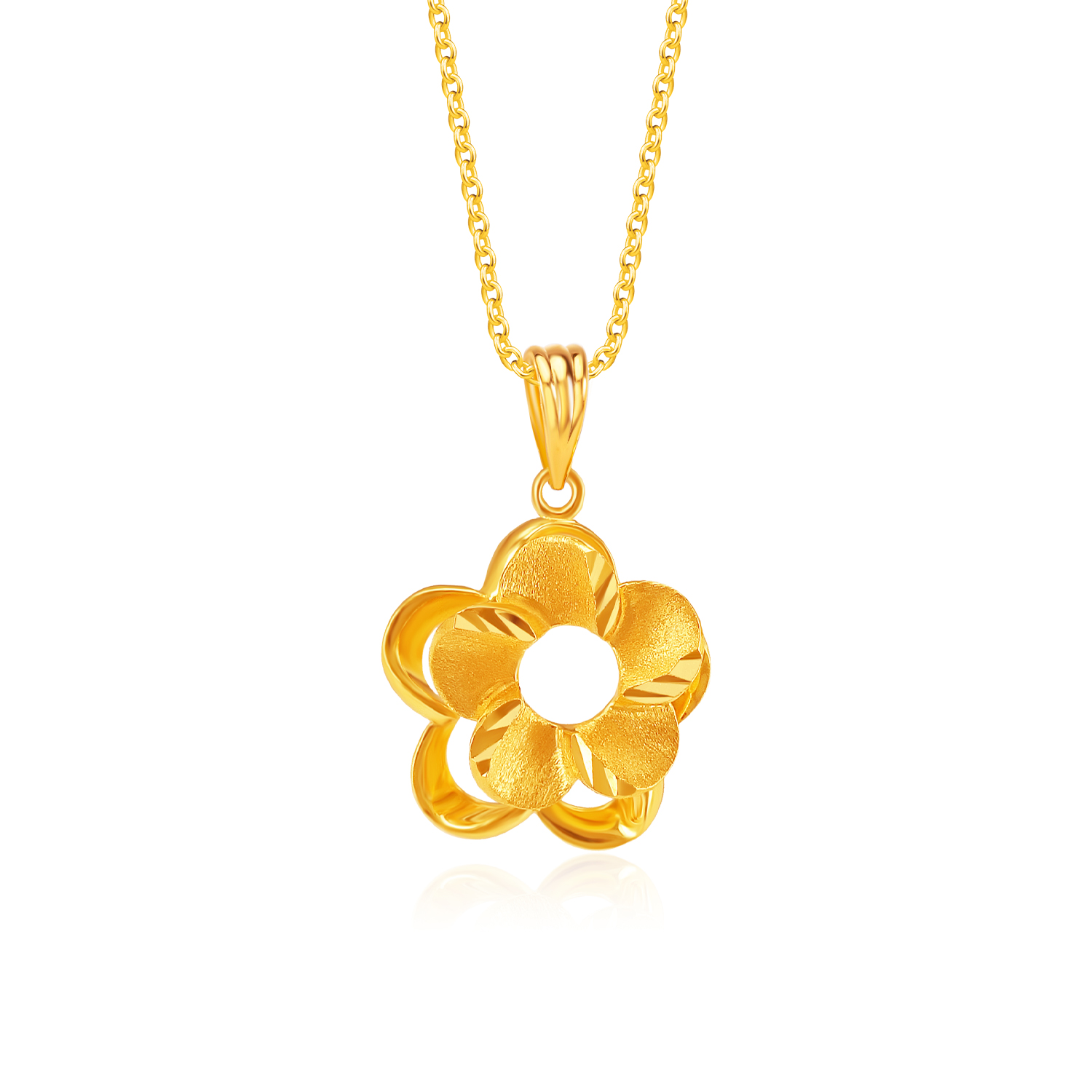 SK 916 All That Blooms Gold Pendant