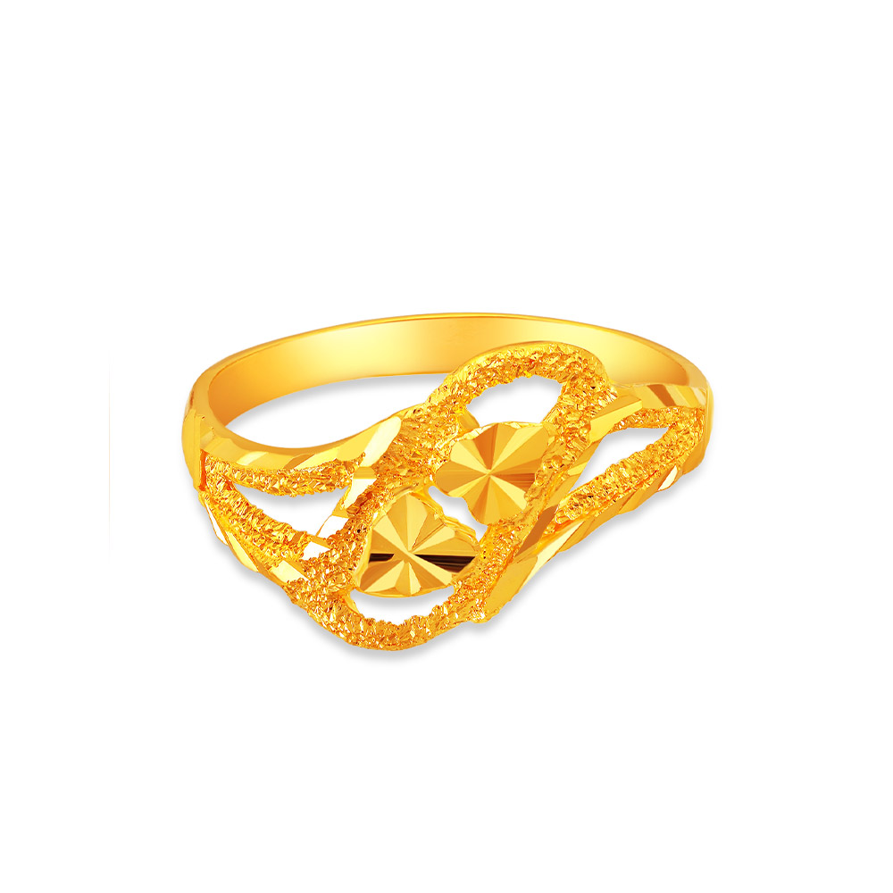 SK 916 Swirling Hearts Ring