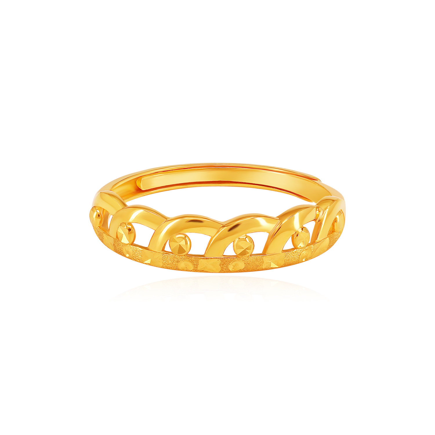 SK 916 Crown It Gold Ring