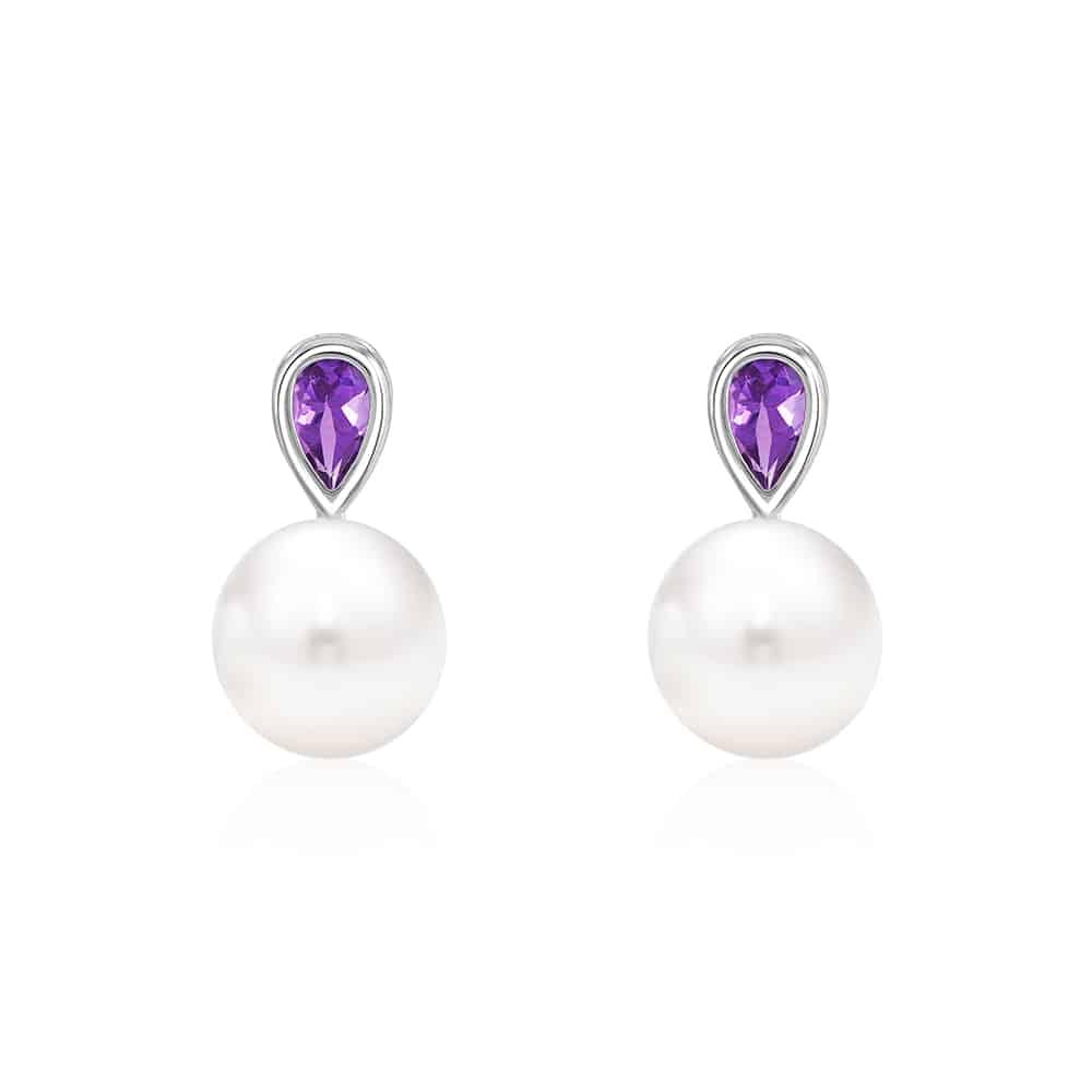 Glorious Amethyst Pearl Earrings
