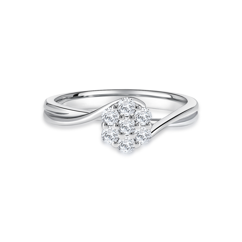 Classic Cluster Diamond Ring