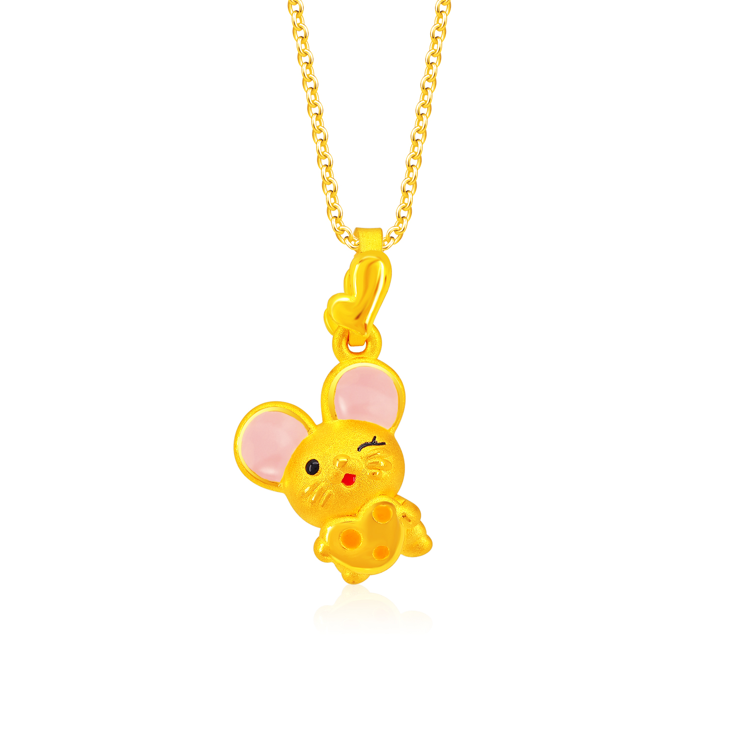 Winky Mouse 999 Pure Gold Pendant