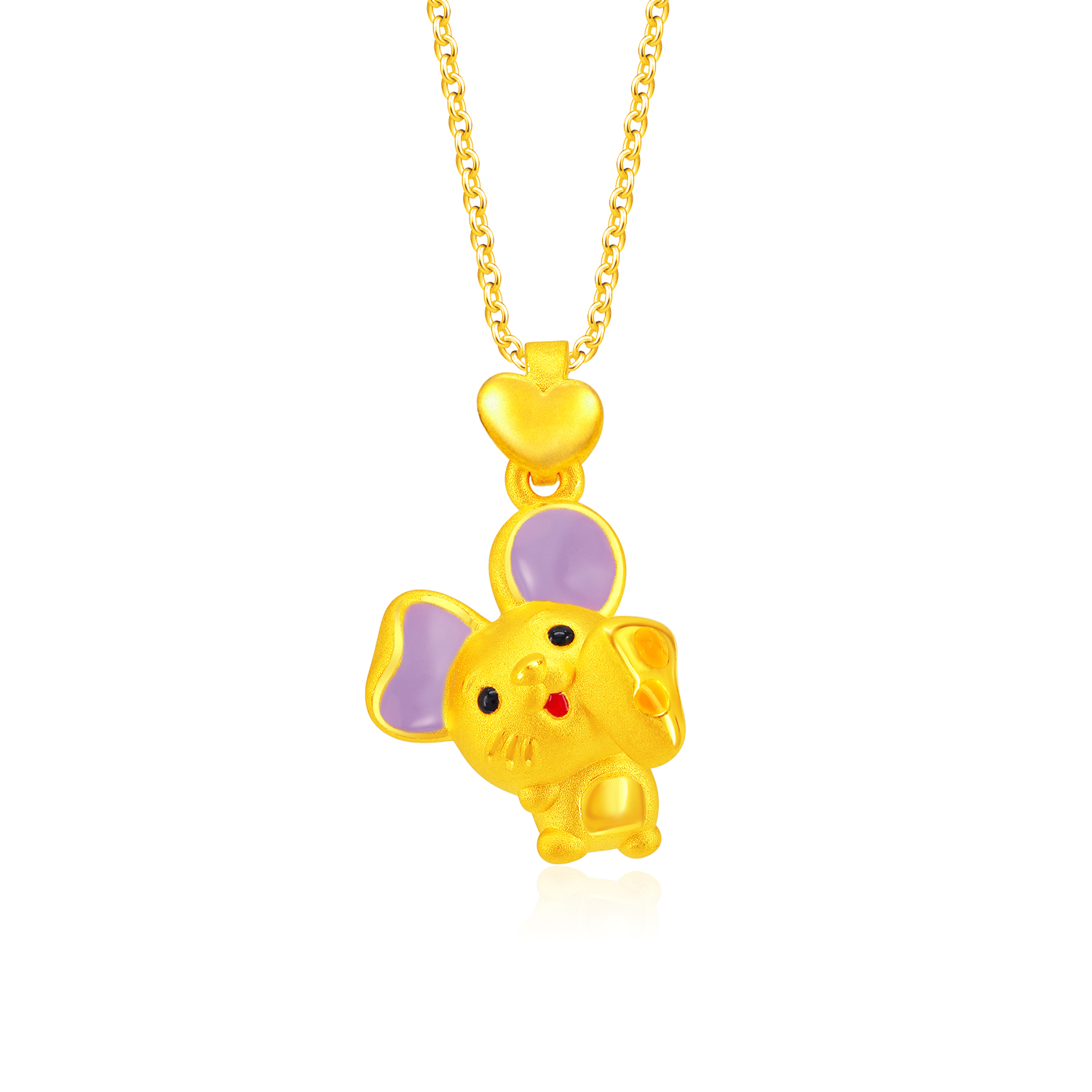 Say Cheese 999 Pure Gold Pendant