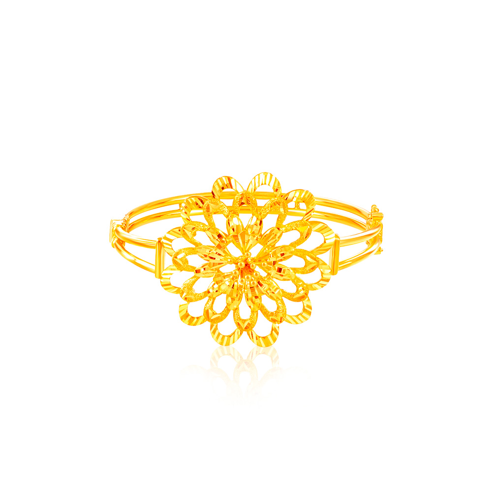 SK Oro Amare The Great Peony Gold Bangle