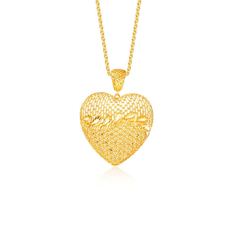 SK Oro Amare Heart of Gold Pendant