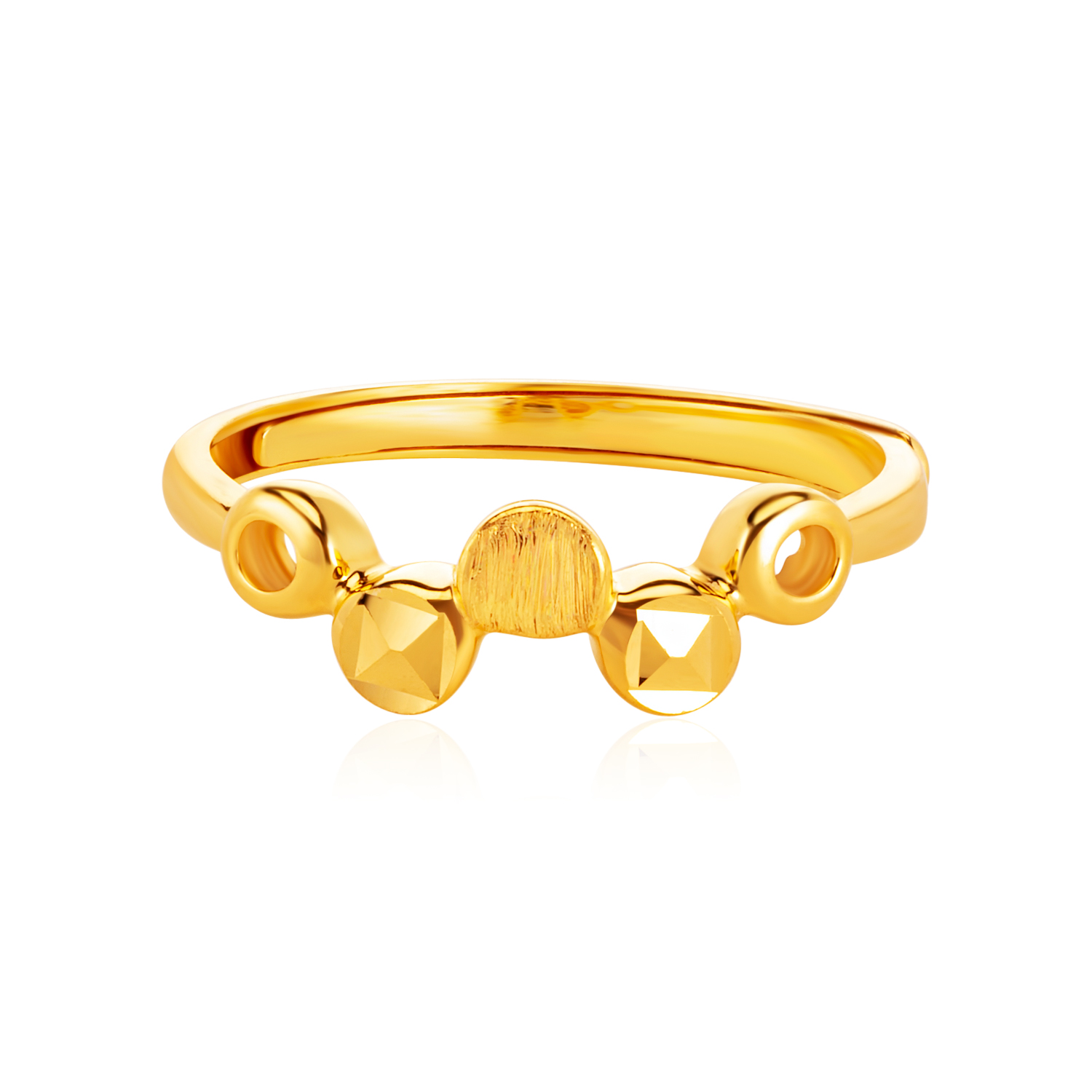 SK 916 Gold Luna Abstract Ring