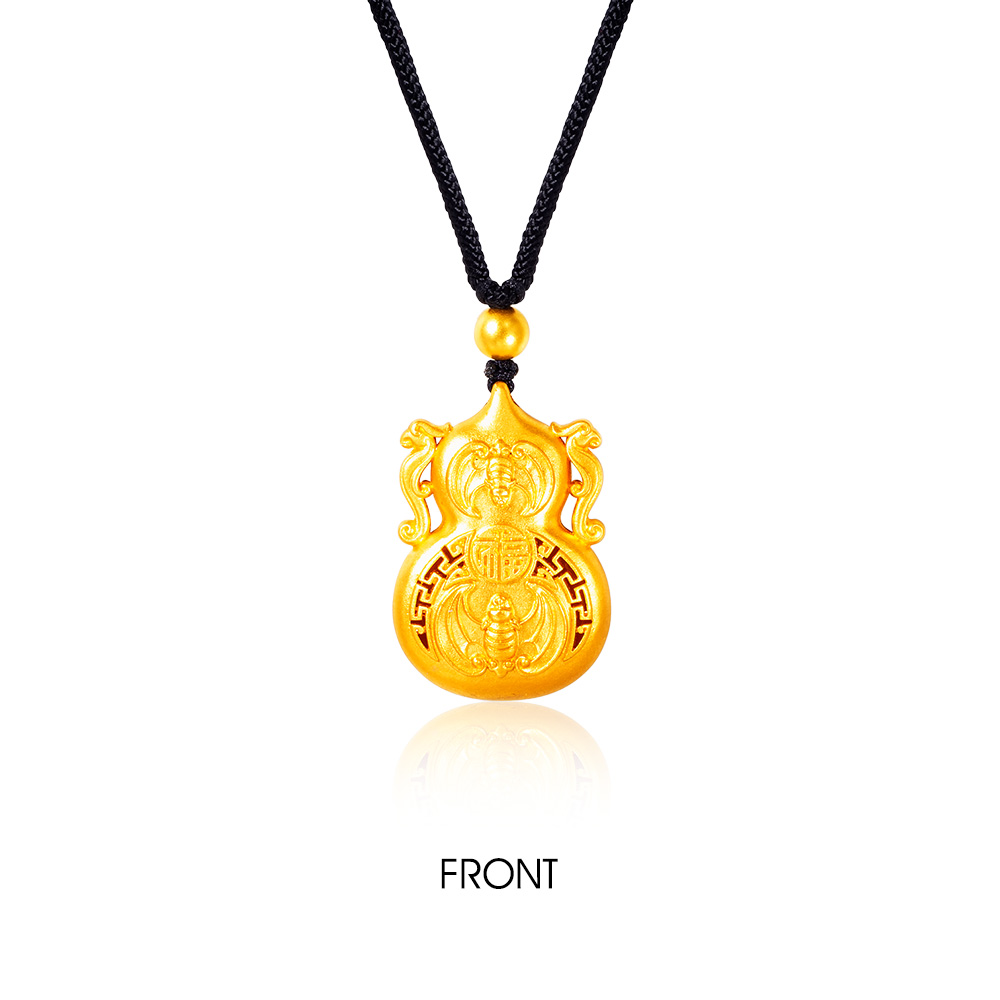 Gold Legacy Fortune Hulu 999 Pure Gold Necklace