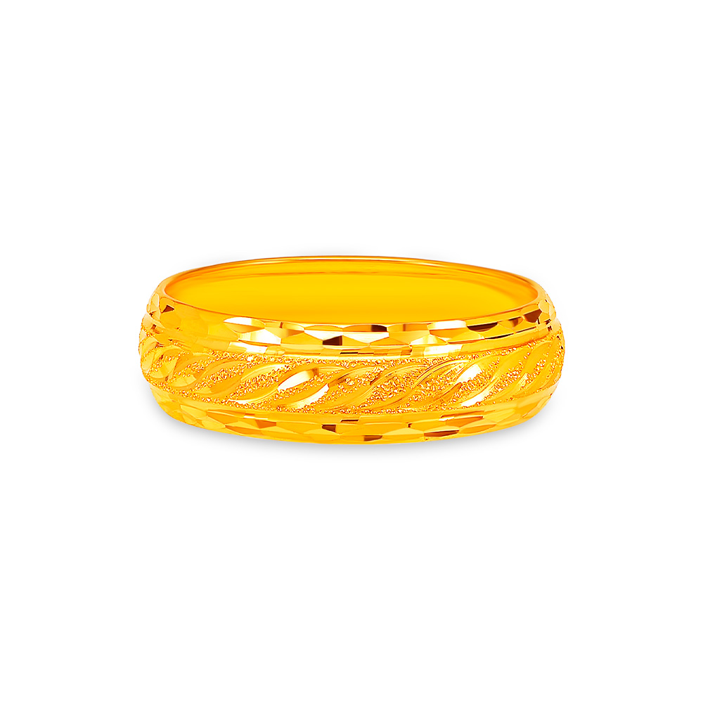 SK 916 Twined and Textured Gold Ring