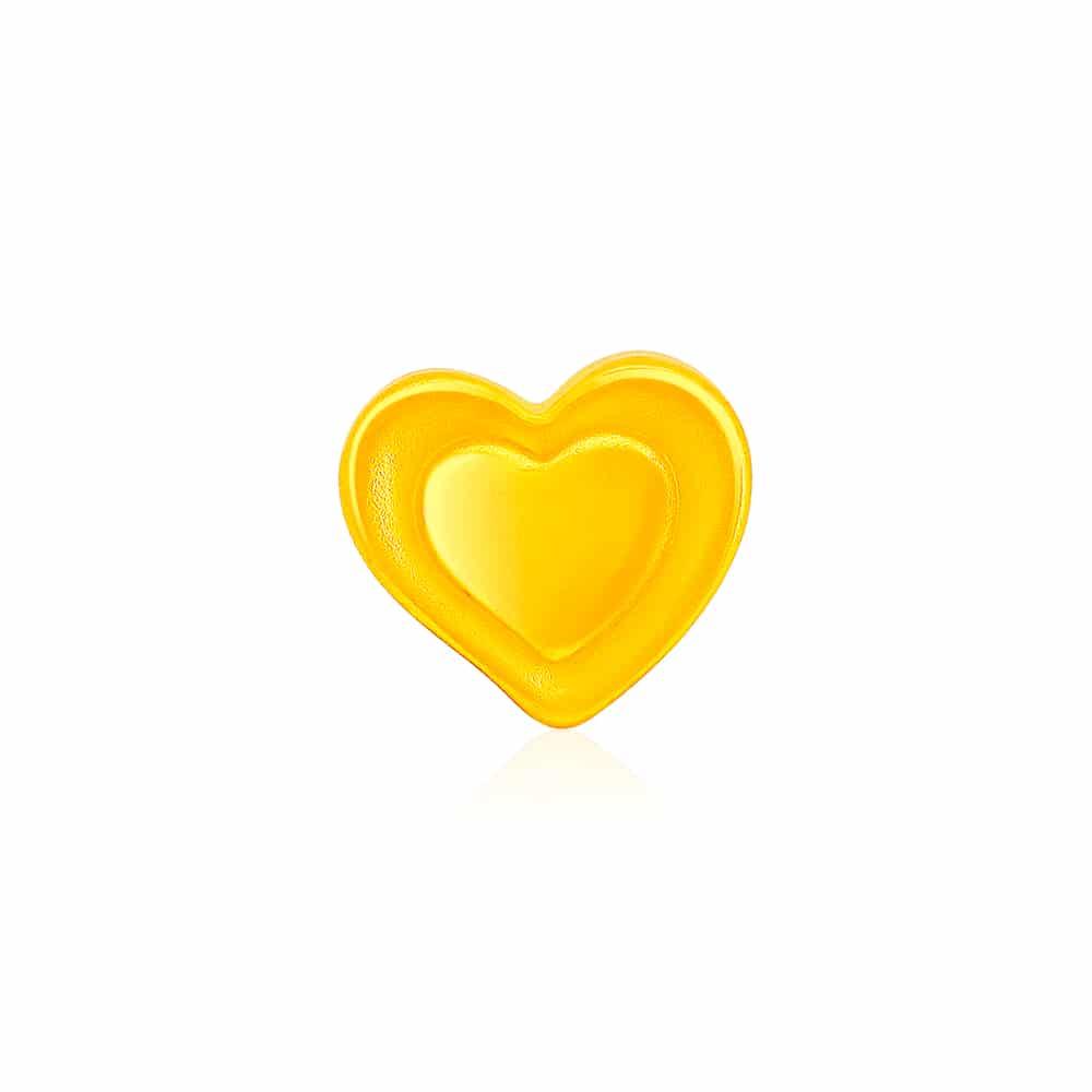Heartbound 999 Pure Gold Charm Bracelet