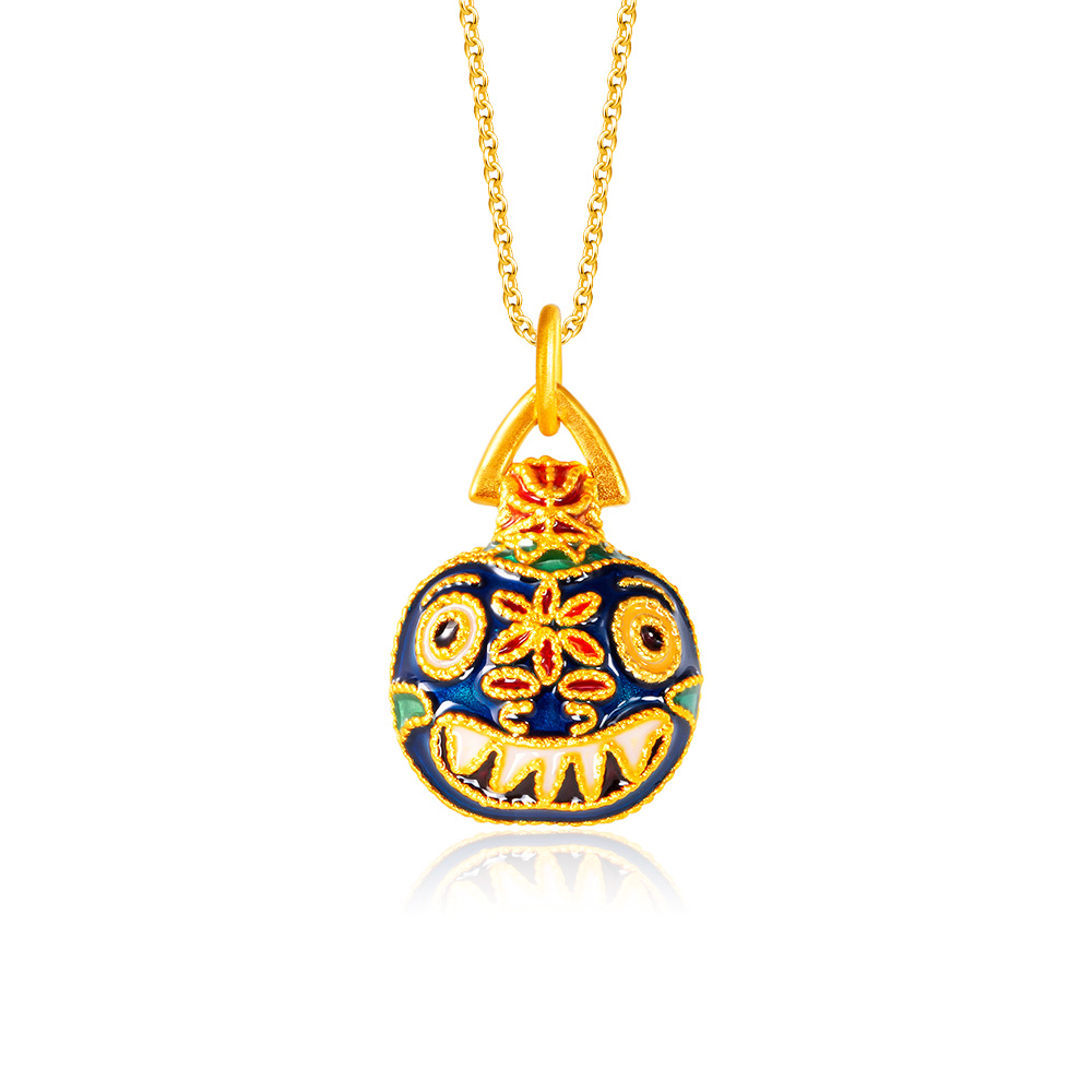 Family Fortune Papa Beast 999 Pure Gold Pendant